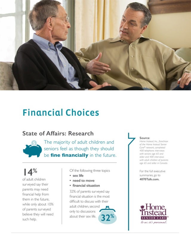 Financial Choices, Are your parents in financial good shape for retirement?
